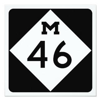 Michigan M-46 13 Cm X 13 Cm Square Invitation Card