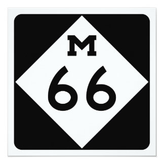 Michigan M-66 13 Cm X 13 Cm Square Invitation Card