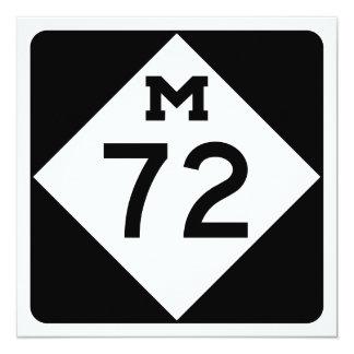 Michigan M-72 13 Cm X 13 Cm Square Invitation Card