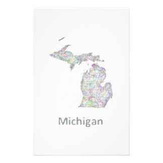 Michigan map 14 cm x 21.5 cm flyer