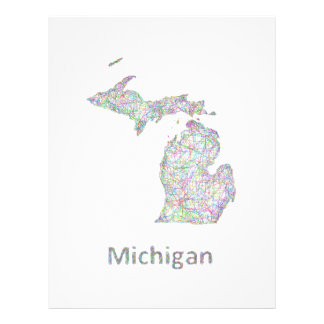 Michigan map 21.5 cm x 28 cm flyer