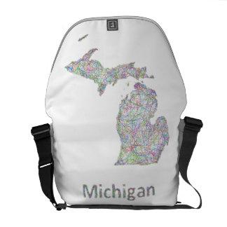 Michigan map commuter bag