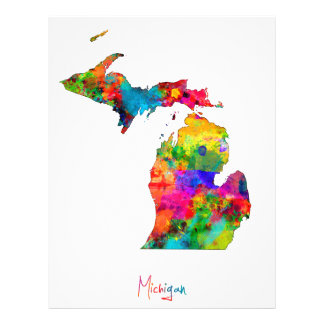 Michigan Map Flyer