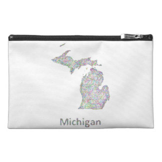 Michigan map travel accessories bags