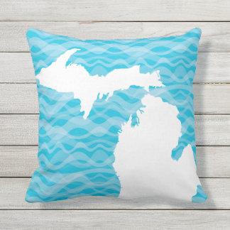 Michigan Map Yooper Unsalted Michigander Outdoor Cushion