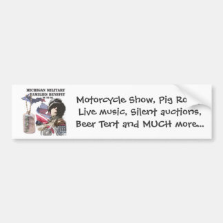 Michigan Military Families Benefit Bumper Sticker