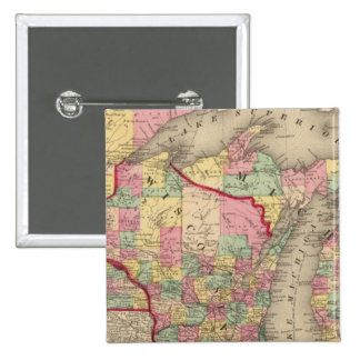 Michigan, Minnesota, and Wisconsin 2 15 Cm Square Badge