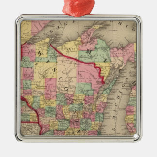 Michigan, Minnesota, and Wisconsin 2 Christmas Ornament
