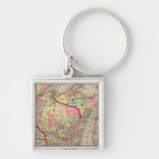 Michigan, Minnesota, and Wisconsin 2 Key Ring