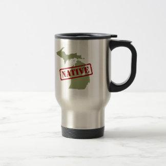 Michigan Native with Michigan Map Coffee Mugs