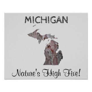 Michigan - Nature's High Five Poster