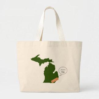 Michigan Needs a Hug Jumbo Tote Bag