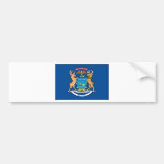 Michigan  Official State Flag Car Bumper Sticker