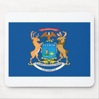 Michigan  Official State Flag Mouse Pad
