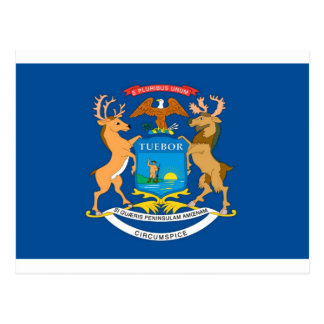 Michigan  Official State Flag Postcard
