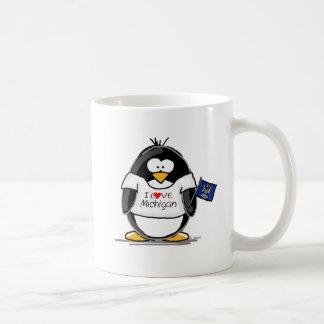 Michigan penguin coffee mug