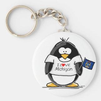 Michigan penguin key ring