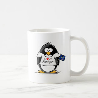 Michigan penguin coffee mugs