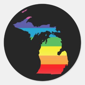 michigan pride. classic round sticker
