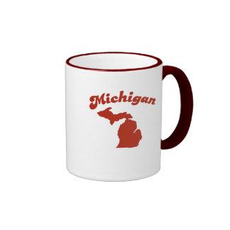 MICHIGAN Red State Ringer Mug
