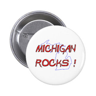 Michigan ROCKS 6 Cm Round Badge