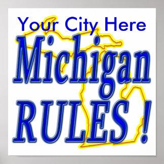 Michigan Rules ! Poster