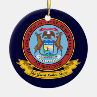 Michigan Seal Christmas Ornament