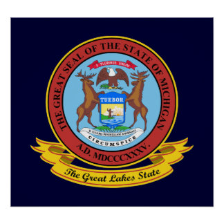 Michigan Seal Poster