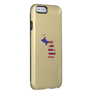 Michigan Shaped American Flag Incipio Feather® Shine iPhone 6 Case