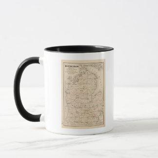 Michigan showing contour lines mug