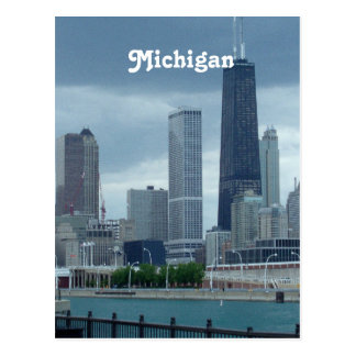 Michigan Skyline Postcard