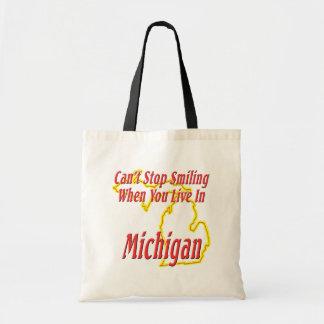 Michigan - Smiling Budget Tote Bag