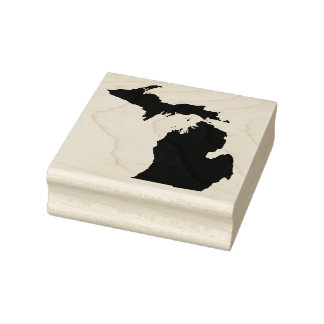 Michigan Solid Rubber Art Stamp