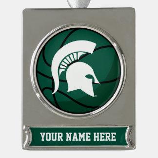 Michigan State® Basketball Personalized Ornament