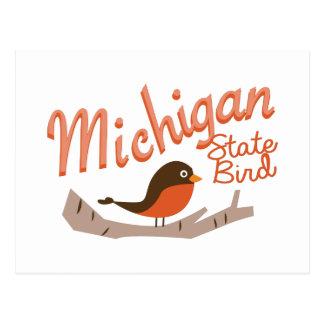 Michigan State Bird Postcard