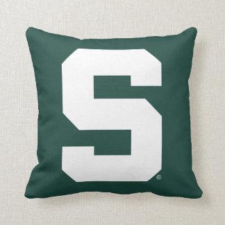 Michigan State Block S Logo Cushion