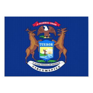 Michigan State Flag 13 Cm X 18 Cm Invitation Card