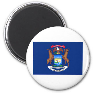 Michigan State Flag 6 Cm Round Magnet