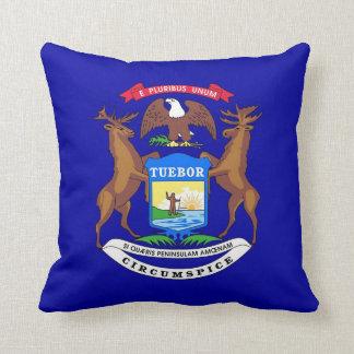 Michigan State Flag American MoJo Pillow