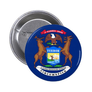 Michigan State Flag Buttons