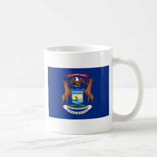 Michigan State Flag Basic White Mug