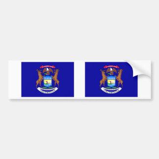 Michigan State Flag Bumper Sticker