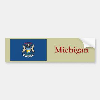 Michigan State Flag Bumper Stickers
