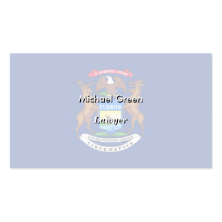 Michigan State Flag Double-Sided Standard Business Cards (Pack Of 100)