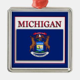 Michigan State Flag Christmas Ornament