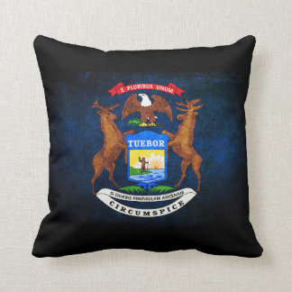 Michigan state flag cushion