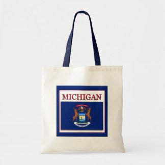 Michigan State Flag Design Budget Canvas Bag