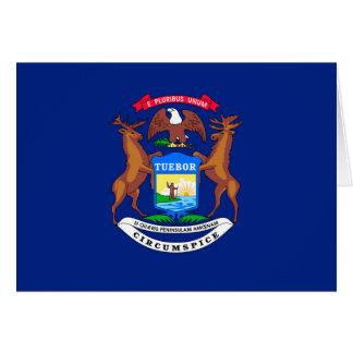 Michigan State Flag Design Greeting Card