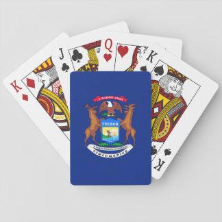 Michigan State Flag Design Poker Deck