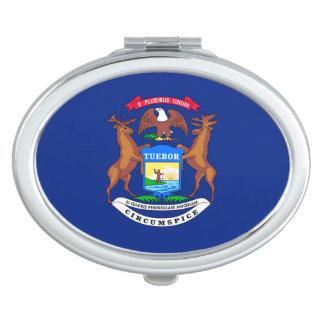 Michigan State Flag Design Compact Mirror